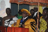 Newly appointed Honorary Chancellor of Dominion University, Baafuor (Dr) Ossei Hyeaman Brantuo VI