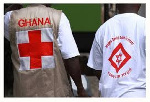 Some persons wearing a red cross society attire