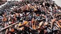 Confiscated guns .     File photo.