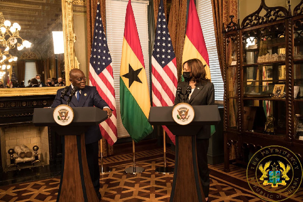Akufo-Addo interacts with US Vice President