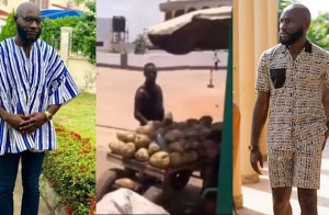 Kennedy Agyapong's son offered some help to the coconut seller