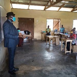 Executive secretary, NTC, Christian Addai-Poku, addressing the teachers