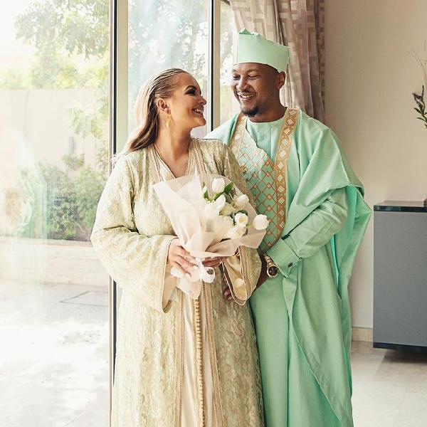 Shafik Mahama with his wife, Asma