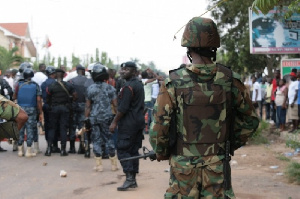 Some military officers in Bole