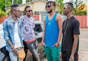 Shatta Wale with the former SM Militants