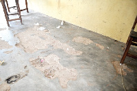 The state of the floors of the classroom block when the team visited the school