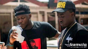Founder and Chief Executive Officer of AMG Business, Criss Kwaku Waddle with Medikal