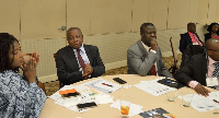 Minister of health, Mr Agyemang-Manu with other delegates during the conference