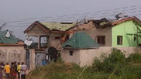 An affected house in Paebo dynamite explosion