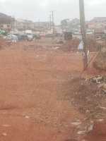 The picture above shows a view of the demolished area to pave way for the road construction