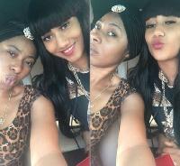 Hajia4real and Amanda Afriyie
