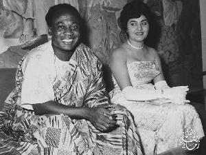 Kwame Nkrumah and his wife Fathia