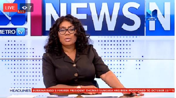 LIVESTREAMED: News Night on Metro TV with Bridget Otoo