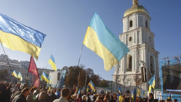 Many Ukrainians welcomed Constantinople's ruling earlier this year, holding a prayer in Kiev