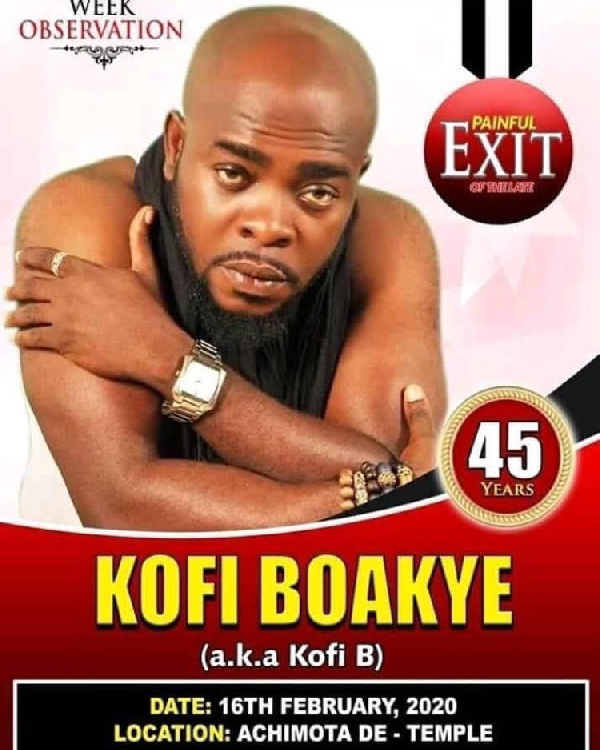 Celebs throng Achimota for Kofi B's one-week observation