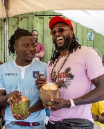 Stonebwoy's surprises Adebayor on birthday