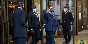 Präsidentin Nana Akufo-Addo ist in Deutschland, um sich mit Pfizer-Impfstoffherstellern zu treffen