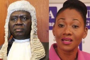 Chief Justice Anin-Yeboah and EC's boss Jean Mensa