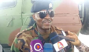 Commander of Operation COVID-19 Safety in Kasoa (Joint Taskforce), Lt. Col. Owusu Appah