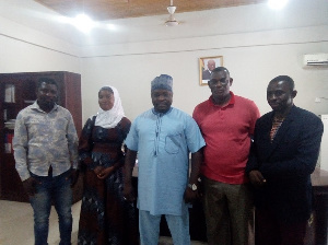 Members of the Coalition of MMDCEs Aspirants Association (COMAS) in a group picture