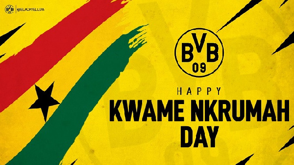 How Ghanaians reacted to Borussia Dortmund's tweet to celebrate Dr. Kwame Nkrumah