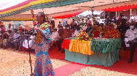 The traders want the President to reappoint Madam Victoria Adu as MCE for Birim Central