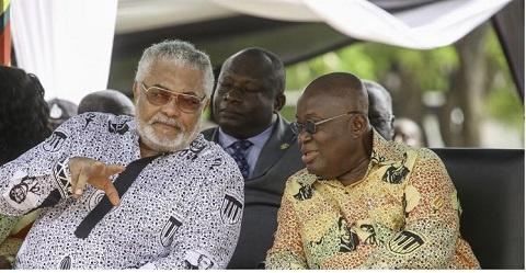 President Nana Addo Dankwa Akufo-Addo with JJ Rawlings