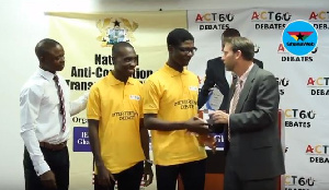 Winners receiving their award