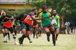 CC Action From The 2019 20 Mens 15s Ghana Rugby Club Championship That Was Won By Dansoman Hurricane