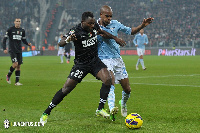 Asamoah bossed the midfield during the game against Lazio