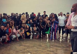 Hollywood stars in Ghana, December 2018. Photo: Boris Kodjoe