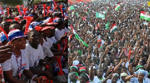 Some members of the NDC and NPP at a rally