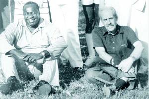 Former president Idi Amin (left) with his British-born security adviser Robert Astles