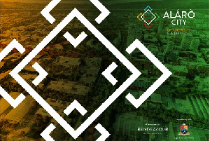 A poster of the new Alaro City in Nigeria