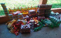 Some of the seized food items