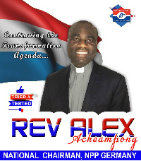 Rev Alex Acheampong, National Chairman of NPP in Germany