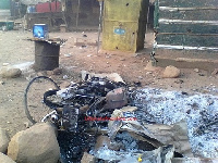 Wooden pavilions belonging to the NDC were set ablaze at the market