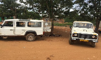 Land Rovers ply Kotokuom as taxi cabs