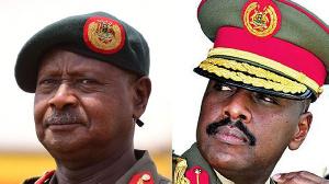 Uganda president Museveni and son Kainerugaba Muhoozi