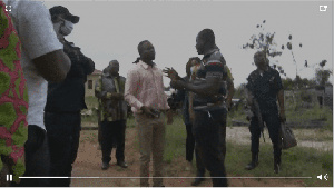 Akandoh with some minority and the media were prevented from inspecting and filming the facility