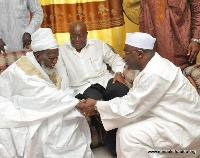 Chief Imam Sheikh Osman Nuhu Sharubutu with Nana Akufo-Addo and Dr. Bawumia