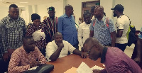 George Opare Addo submitted his forms on Tuesday at the party's headquarters