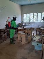 Schools in Oti region disinfected ahead reopening
