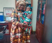 Gifty Anti and her adorable daughter