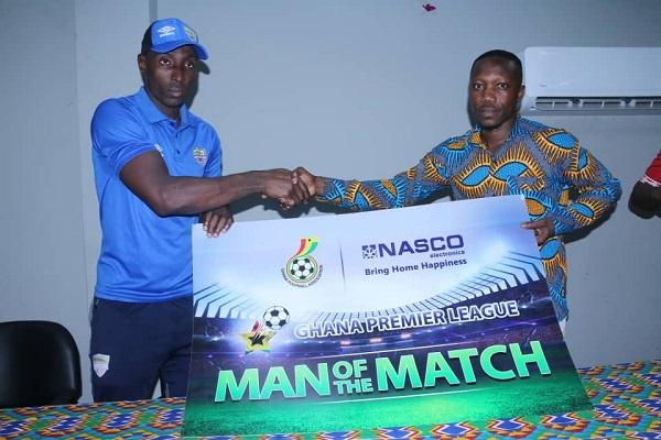 Hearts striker Kofi Kordzi wins MoTM gong after brace against Bechem United