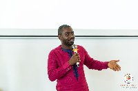 Timothy Karikari, presenting on Cultural Intelligence