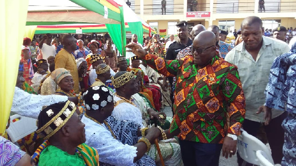 President Akufo-Addo is on a three-day working visit in the Volta region