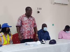 Kwesi Amoako-Atta addressing the Chiefs and Youth Leaders in Tumu