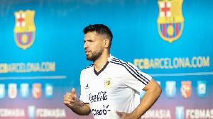 Sergio Aguero, dan wasan gaba na Argentina zai koma Barcelona
