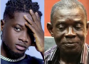 Highlife artiste, Kuami Eugene and his alleged biological father, Kofi Boakye